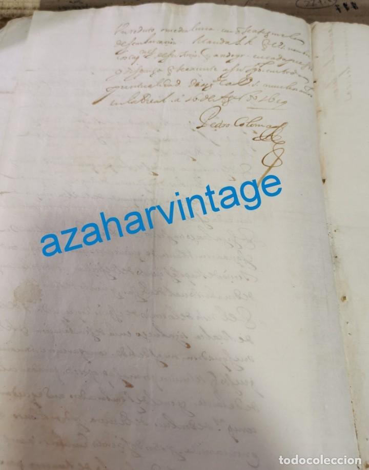 Manuscritos antiguos: 1619, ORDEN DE DESEMBARCO DE NAVIOS, FIRMA PEDRO COLOMA, SECRETARIO DE ESTADO ITALIA FELIPE III - Foto 2 - 220970001