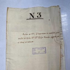 Manuscritos antiguos: CÁDIZ, 1767. 9 DOCUMENTOS. RECIBOS DE MEDICINAS PAGADOS POR EL MARQUES DE TABLANTES. Lote 221095230