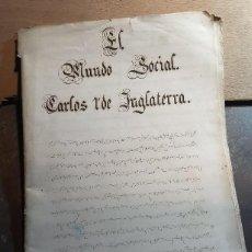 Manuscritos antiguos: ANTIGUO MANUSCRITO DE TAQUIGRAFÍA CON DIVERSAS HISTORIAS.. Lote 221298436