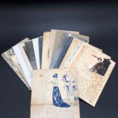 Manuscritos antiguos: CARTAS Y FOTOGRAFÍAS PRIMERA GUERRA MUNDIAL ELIO MURATET ESCRITOR LIBRO,COMO SE MORÍA EN EL FRENTE,. Lote 221488943
