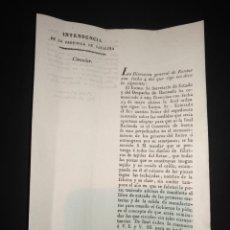 Manuscritos antiguos: CIRCULAR CATALUÑA FÁBRICAS TEJIDO REINO , ESTAMPADO INFORMATIVO EN LA ROPA. NOMBRE FÁBRICA ,ETC 1832. Lote 221491161