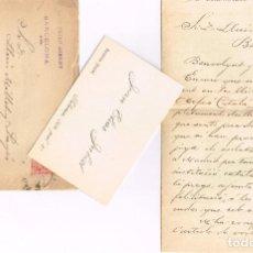 """Manuscritos antiguos: 1912 CARTA A LLUÍS MILLET Y PAGÉS ELOGIANDO LA LABOR DE PAÍS DEL """"ORFEÓ CATALÁ"""" BAJO SU DIRECCIÓN. Lote 221842217"""