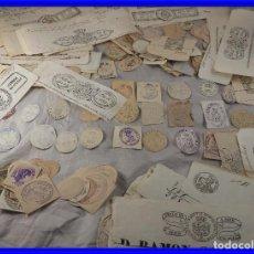 Manuscritos antiguos: IMPORTANTE Y RARA COLECCION DE SELLOS DE CABECERA DE DOCUMENTOS S. XIX TIMBROLOGIA. Lote 221939970