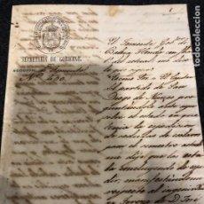 Manuscritos antiguos: DOCUMENTO ESCLAVOS CUBA 1840 LEGIBLE. Lote 221954030