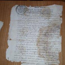Manuscritos antiguos: DOCUMENTO MANUSCRITO DE 1804, CON SELLO DE CUARENTA MARAVEDIES DE CAROLUS IV. Lote 221957713