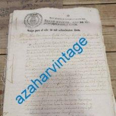 Manuscritos antiguos: 1812, DOCUMENTO PLEITO DEUDAS ACEITE, TIMBROLOGIA SELLO POBRES HABILITADO NAPOLEON. Lote 221999951