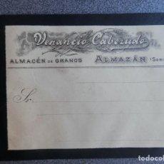 Manuscritos antiguos: AMAZÁN SORIA DOS CARTAS MEMBRETES PUBLICITARIOS Y DOCUMENTO IMPRENTA SORIA 1902-4. Lote 222140692