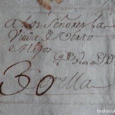 Manuscritos antiguos: 6 CARTAS AÑO 1763 BAYONA FRANCIA A CORELLA NAVARRA COMERCIO DE LANAS - MARCAS GANADERÍA LANAR. Lote 222172947