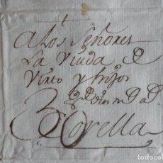 Manuscritos antiguos: PREFILATELIA BONITA CARTA ÑO 1763 BAYONA CORELLA NAVARRA LETRA LUJO - COMERCIO LANAS, MARCAS GANADO. Lote 222179566