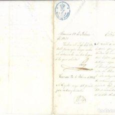 Manuscritos antiguos: MANUSCRITOS DEL PRESIDIO DE CAMACA, FIRMADOS POR CAPITAN MAYOR Y CARTA DE LIBERTAD. 1866. Lote 222271370