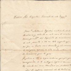 Manuscritos antiguos: 4 DOCUMENTOS MANUSCRITOS DEL PRESIDIO DE CAMACA, AÑO 1866. Lote 222277138