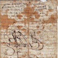 Manuscritos antiguos: 1738 BORNOS (CADIZ) FISCAL DE OFICIO DE4 MRS CERTIFICADO IGLESIA SANTO DOMINGO CONDE DE MARQUINA. Lote 222374383