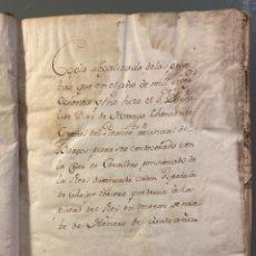 Manuscritos antiguos: PRUEBAS PRESENTADAS PARA SER CONDECORADO CON LA CRUZ DE LA ORDEN DE CARLOS III 1781. Lote 222549778
