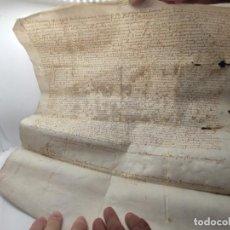 Manuscritos antiguos: MANUSCRITO SOBRE PERGAMINO XVI ANTIGUO (MALLORCA). Lote 222651942