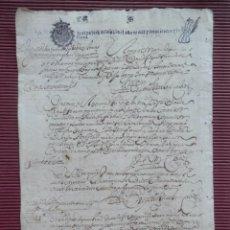Manuscritos antiguos: MANUSCRITO AÑO 1657 FISCAL 4º HABILITADO PARA 1660 ARMENTAL - A CORUÑA ACTUACIONES JUDICIALES. Lote 222715163