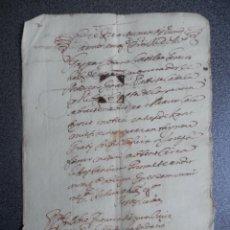 Manuscritos antiguos: MANUSCRITO AÑO 1655 VALENCIA ANOTACIÓN NOTARIAL. Lote 222716276