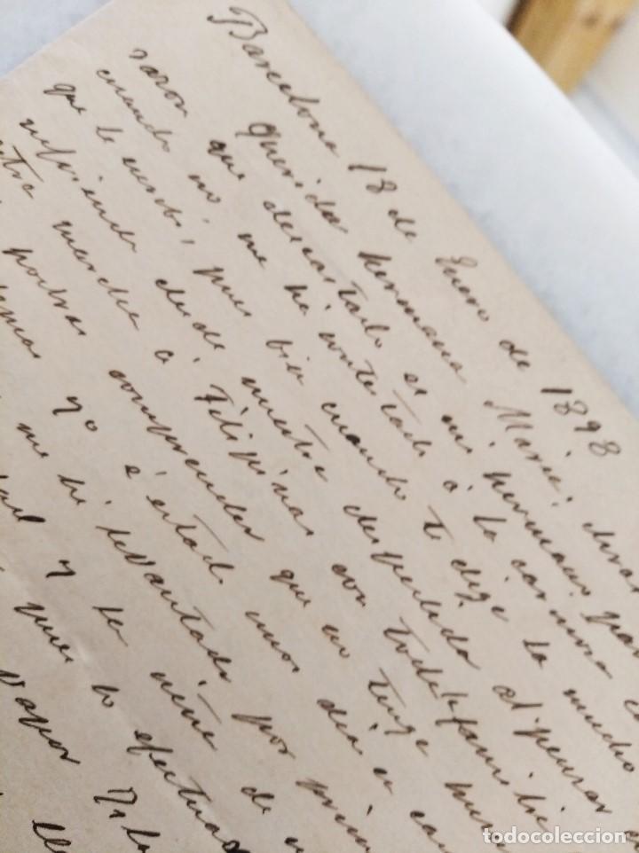 Manuscritos antiguos: FILIPINAS. CARTA FAMILIAR, MARCHA A FILIPINAS CON CARTA DE RECOMENDACION DEL GEN MARTINEZ CAMPOS. - Foto 3 - 222732782