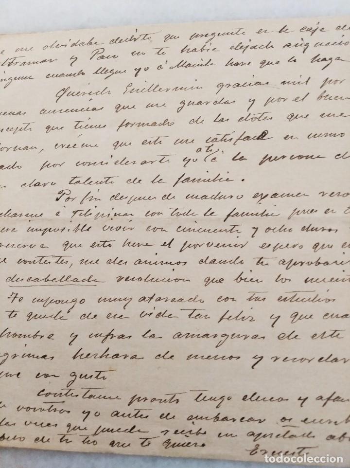 Manuscritos antiguos: FILIPINAS. CARTA FAMILIAR, MARCHA A FILIPINAS CON CARTA DE RECOMENDACION DEL GEN MARTINEZ CAMPOS. - Foto 4 - 222732782