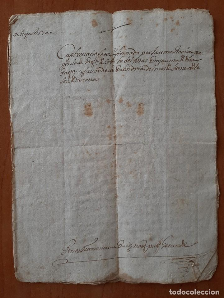 1700 DOCUMENTO JURIDICO / EN LATÍN. GERONA (Coleccionismo - Documentos - Manuscritos)