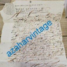 Manuscritos antigos: CADALSO DE LOS VIDRIOS, MADRID,1736, MANUSCRITO SOBRE OVEJAS Y CABRAS, PUERTA REAL VENTA EL COJO. Lote 224176395