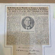 Manuscritos antiguos: CARLOS ARNICHES AUTÓGRAFO. Lote 224421095