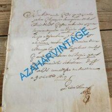Manuscritos antigos: 1619, ORDEN DE DESEMBARCO DE NAVIOS, FIRMA PEDRO COLOMA, SECRETARIO DE ESTADO ITALIA FELIPE III. Lote 224447561