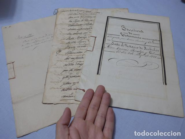 * LOTE 3 ANTIGUOS DOCUMENTOS A ESTUDIAR IDENTIFICAR, SEGURAMENTE DE CATALUNYA. ZX (Coleccionismo - Documentos - Manuscritos)