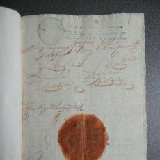Manuscritos antiguos: MONTORO CÓRDOBA REAL PROVISIÓN AÑO 1714 SELLO LACRE CANCILLERÍA GRANADA PLEITO HACEÑAS Y BATANES. Lote 224602596