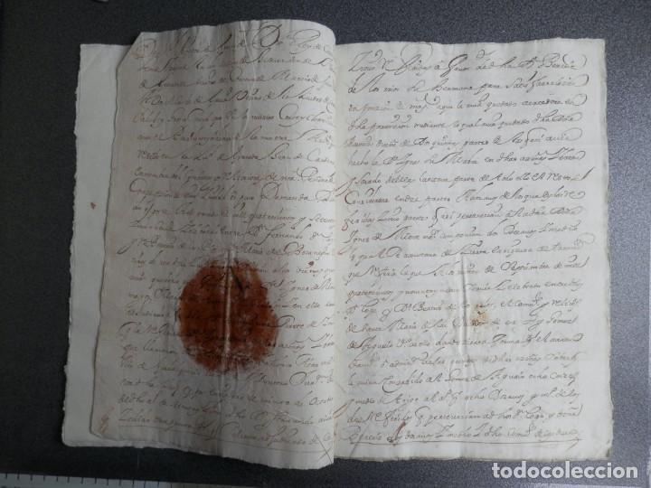 Manuscritos antiguos: MONTORO CÓRDOBA REAL PROVISIÓN AÑO 1714 SELLO LACRE CANCILLERÍA GRANADA PLEITO HACEÑAS Y BATANES - Foto 2 - 224602596