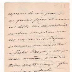 Manuscritos antiguos: CARTA MANUSCRITA CON FIRMA MANUEL DEL PALACIO. PERIODISTA Y POETA. LERIDA. Lote 224892775