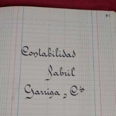 Manuscritos antiguos: LIBRO CONTABILIDAD FABRIL GARRIGA Y CIA. INDUSTRIA TEXTIL. CARRERAS FÁBREGAS. FRANCISCO COMAS. ETC. Lote 224901216