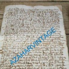 Manuscritos antiguos: SEPULVEDA, SEGOVIA, 1516, CARTA DE DOTE PARA MARIA DE NAVAS, HIJA DE DIEGO DE SEPULVEDA,3 PAGINAS. Lote 224953920