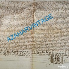 Manuscritos antiguos: 1446, ESPECTACULAR MANUSCRITO VENTA DE UNA HEREDAD. Lote 224957040