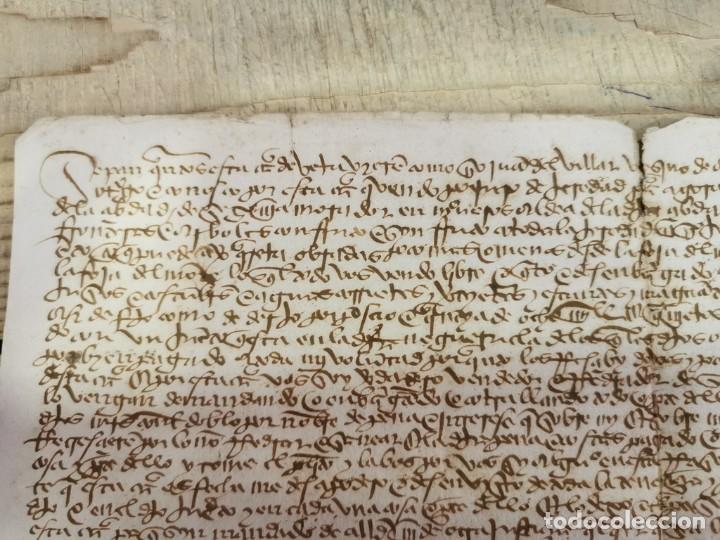 Manuscritos antiguos: 1446, ESPECTACULAR MANUSCRITO VENTA DE UNA HEREDAD - Foto 2 - 224957040