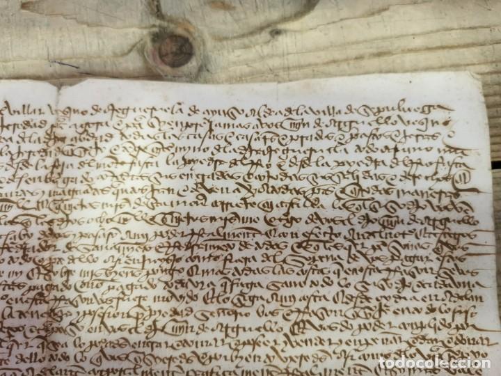 Manuscritos antiguos: 1446, ESPECTACULAR MANUSCRITO VENTA DE UNA HEREDAD - Foto 3 - 224957040