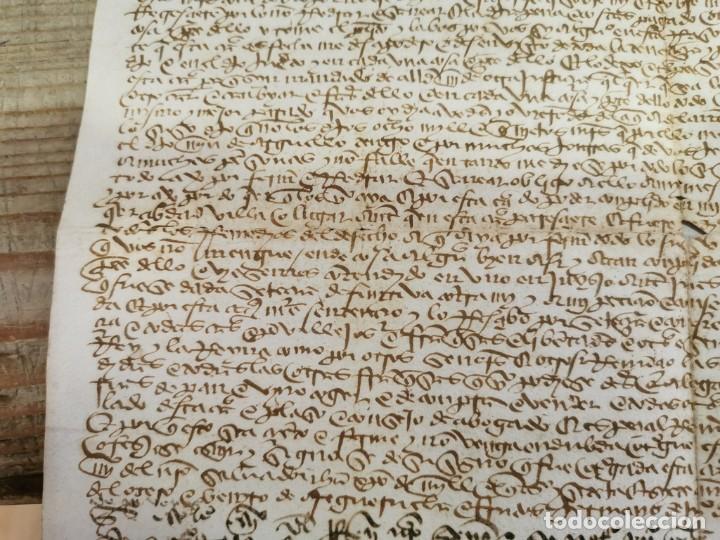 Manuscritos antiguos: 1446, ESPECTACULAR MANUSCRITO VENTA DE UNA HEREDAD - Foto 4 - 224957040