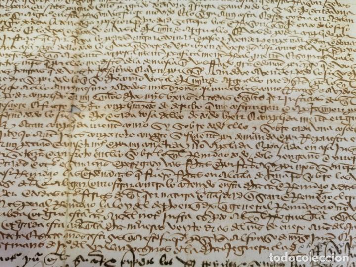 Manuscritos antiguos: 1446, ESPECTACULAR MANUSCRITO VENTA DE UNA HEREDAD - Foto 5 - 224957040