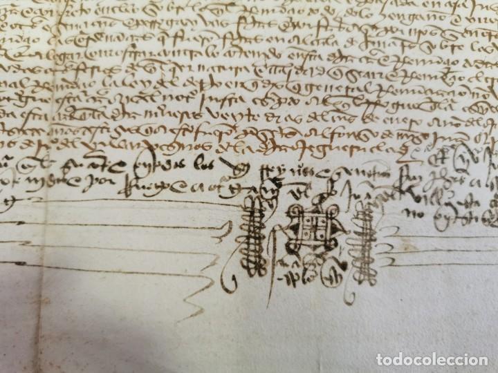 Manuscritos antiguos: 1446, ESPECTACULAR MANUSCRITO VENTA DE UNA HEREDAD - Foto 6 - 224957040
