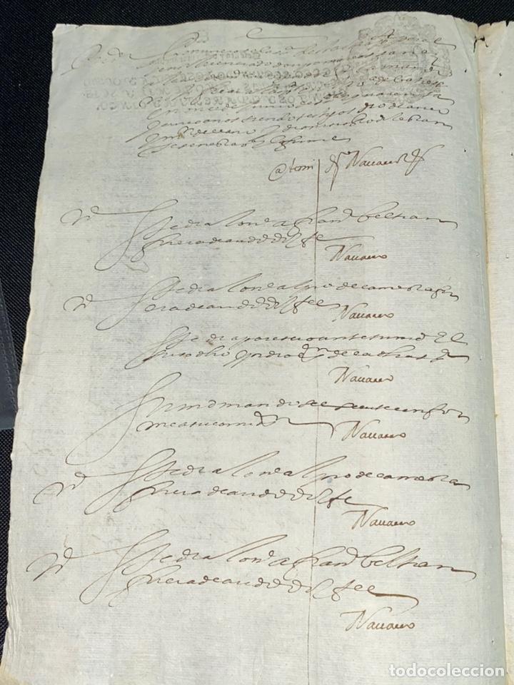 Manuscritos antiguos: SELLO SEGUNDO 1645. FUENSALIDA, TOLEDO. FALLO JUDICIAL.FIRMA DEL LICENCIADO. - Foto 2 - 225018265