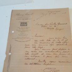 Manuscrits anciens: CARTA EN FRANCÉS BLANZY POURE ET CIE PARIS 27 MAYO 1921. Lote 225205705