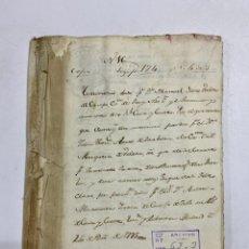 Manuscritos antiguos: MADRID, 1795.TESTIMONIOS DEL ESCRIBANO DEL REY D. FELIPE. PLEITOS. 1 SELLO. 141 PAGINAS. VER/LEER. Lote 225500005