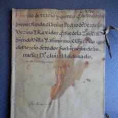 Manuscritos antiguos: MANUSCRITO 1714 TAPAS PERGAMINO FISCAL 2º RARO VALLADOLID ALCALDE FUNDACIÓN 52 PÁGS. Lote 226164033