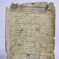 Manuscritos antiguos: TIMBROLOGIA. DOS SELLOS. 1657 / SELLO CUARTO. 10 MARAVEDIS. 1654. VER FOTOS. Lote 226222665