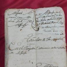 Manuscritos antiguos: ANUARIO JUZGADO ORDINARIO DE LA VILLA DE ALFORJA 1798. Lote 226899300