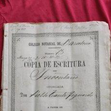 Manuscritos antiguos: ESCRITURA INVENTARIO Y TESTAMENTO 1897 ESPLUGA DE FRANCOLI. SELLOS MARCA DE AGUA SELLO UNDECIMO 1877. Lote 226991056