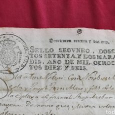 Manuscritos antiguos: MANUSCRITO 1816 ESPLUGA DE FRANCOLI. SELLO FERDIN VII . 272 MARAVEDIS. Lote 226997550