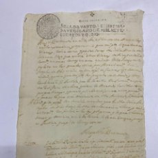 Manuscritos antiguos: TIMBROLOGIA. SELLO CUARTO. 20 MARAVEDIS. 1708. MANUSCRITO. VER FOTOS. Lote 227146675