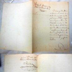 Manuscritos antiguos: NOMBRAMIENTO: COMO SECRETARIO A JOSÉ ESCOFET Y ELVIRA, CAJA AHORROS Y MONTE PIEDAD VALENCIA 1877. Lote 227548595
