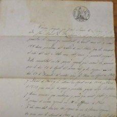 Manuscritos antiguos: CERVIÀ. LLEIDA. LÉRIDA. SELLO 4º. 1861. SELLO SECO. PAGARÉ. JOSÉ SIMÓ. JOSÉ MARTÍ. SANTA COLOMA.. Lote 228243270