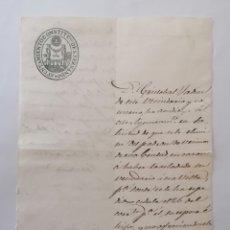 Manuscritos antiguos: DOCUMENTO MANUSCRITO SAN FERNANDO. CÁDIZ AÑO 1856 CAMBIO DE VECINDAD A CHICLANA DE CRISTÓBAL TADIN.. Lote 228724590